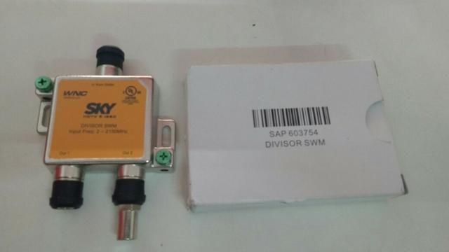 Divisor SWM 1x2 SKY (Novo sistema otimizado de um unico cabo)