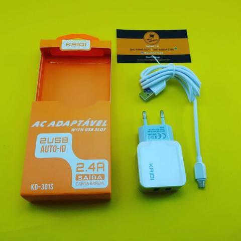 Carregador de Celular ( Kaidi 2.4A ) Micro Usb - V8