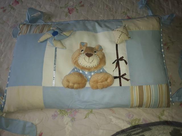 Protetor de berço para menino e bolsa - Foto 4