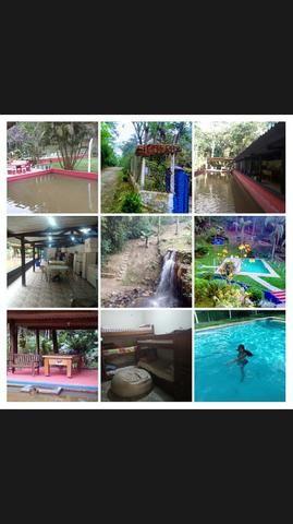 Chácara para festa piscina,cachoeira,campo de futebol,salão de jogos