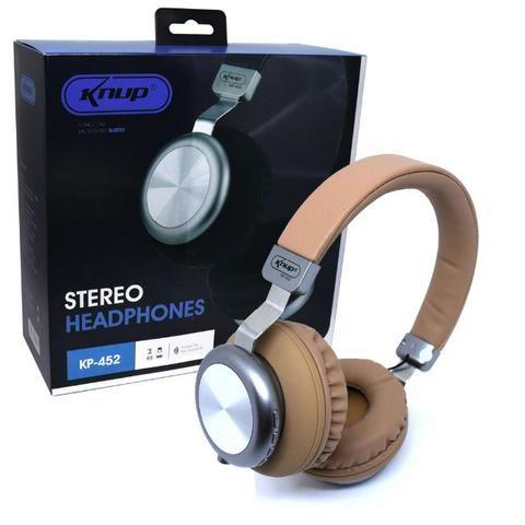 Fone de Ouvido Bluetooth 5.0 KP-452 Knup Com Microfone Rádio FM Micro SD MP3 Recarregável - Foto 4