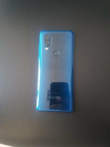 Com Nota-Motorola One Vision 128GB Azul Safira - Foto 2