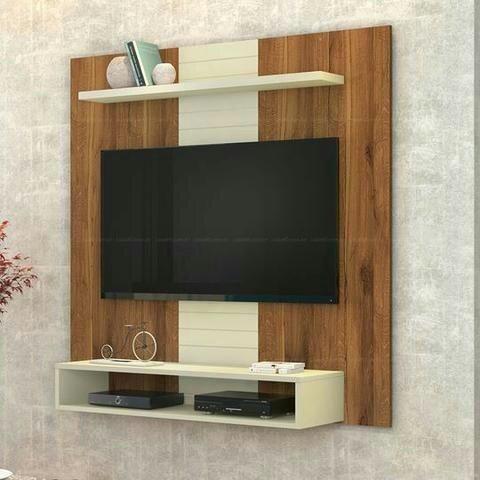 Painel para TV até 47 Polegadas Smart Rústico Terrara/Off White - 0DJ Móveis