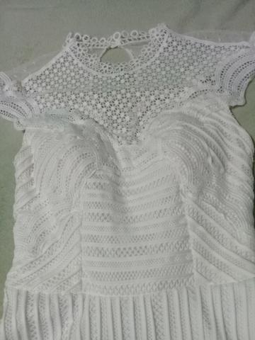7b4c2fc0d Vestido social branco - Roupas e calçados - Campo da Agua Verde ...