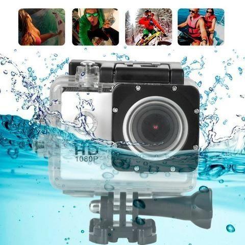 Câmera Esporte 1080p Actioncam + Cartao 32gb + Acessórios - Foto 4