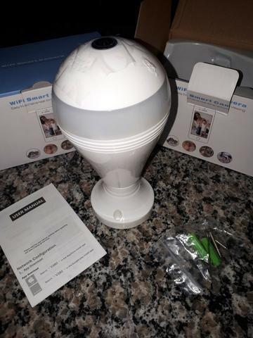 Lâmpada LED com Camera 360º WI-FI App próprio (IPC360) para iPhone e Android