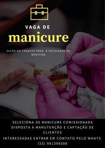 Vaga de manicure comissionada