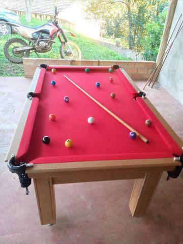 Mesa Tentação Carlin Cor Cerejeira Tecido Vermelho Mod. IAKN5923 - Foto 2