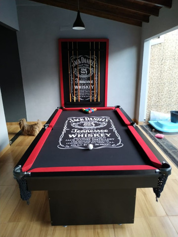 Mesa Encanto Semi Oficial Cor Preta Tecido Preto Logo Jack Daniels Mod. QKMK4917 - Foto 2
