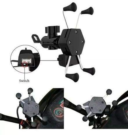 Suporte Celular Moto c/Carregador USB Garra Aranha- Imperium Informatica - Foto 2