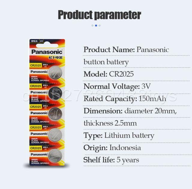 Bateria Panasonic CR2025 lítio 3v 150mAh original preços especiais atacado - Foto 2