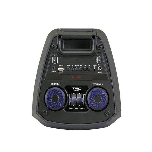 R$690,00 - Caixa De Som Amplificada TRC 335 Bluetooth Usb/Fm/Aux/Mic/TF 200W - Foto 2