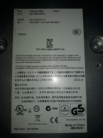 Switch Cisco WS C2960 - Foto 2