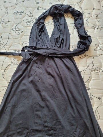 Vestido multi formas preto
