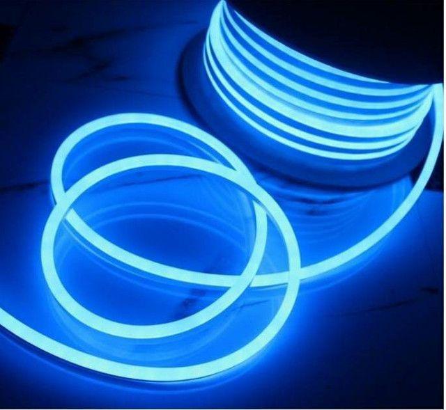 Mangueira de LED Neon 110v corte 50cm - 3 metros , Rosa e Azul