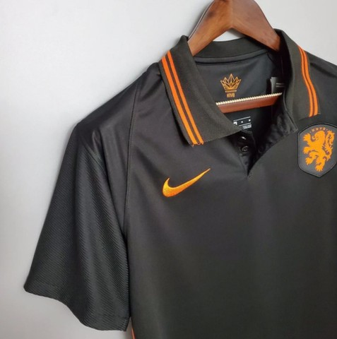 Camisa Seleção Holandesa 20/21 PRETA - Foto 5
