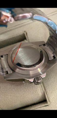 Relógio Rolex Submariner automático Fundo Verde a prova d'água - Foto 4
