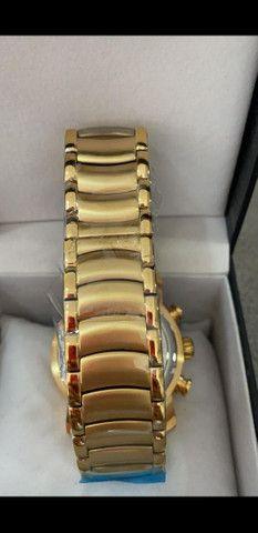 Relógio BVLGARI Skeleton Dourado a prova d'água - Foto 3