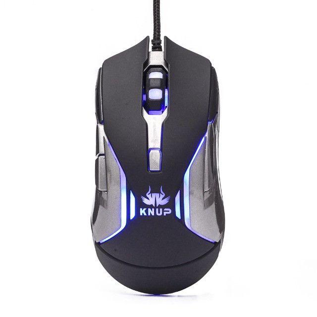 Mouse Gamer Knup V34 Para Jogos Óptico 6 Botões Led
