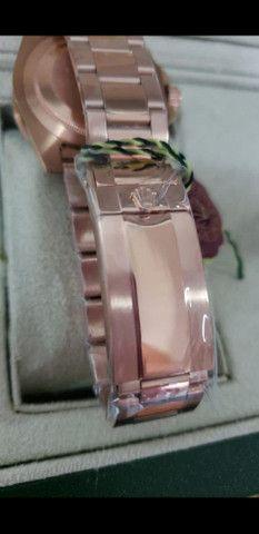 Relógio Rolex GMT Master II Rose Automático a prova d'água - Foto 4