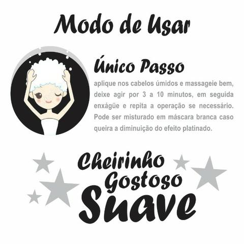 Black Platinum Matizador Bittes Hair 500 ml Cabelos Matizados e Hidratados Acinzentados - Foto 2