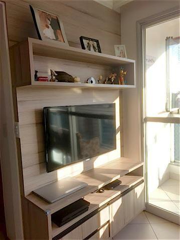Apartamento 2 quartos, suíte, sala com varanda, lazer - Praia do Canto