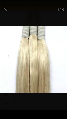 Troco produtos cosméticos protetor, hidratante , maquiagem por cabelo loiros acima de 60cm