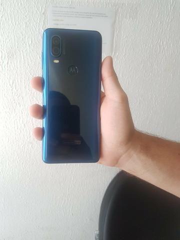 Com Nota-Motorola One Vision 128GB Azul Safira - Foto 4