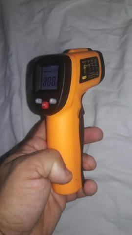 Pistola Para Medir Temperatura Com Laser De -50 A 550 ºc - Foto 4