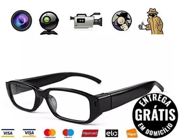 9fcdada09 Óculos Espião Com Camera Espiã, Modelo Social Video E Fotos - 4x nos Cartões