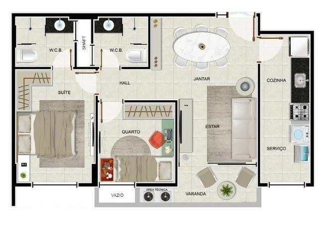 Apartamento na Jatiuca, 72 m2, 2 quartos
