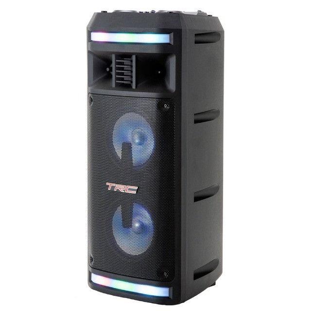 R$690,00 - Caixa De Som Amplificada TRC 335 Bluetooth Usb/Fm/Aux/Mic/TF 200W - Foto 5