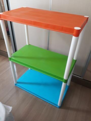 Estante modular plástico colorida infantil - Foto 2