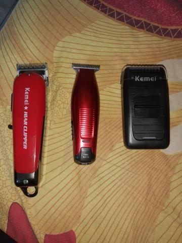 Máquinas de corta cabelo Kit kamei