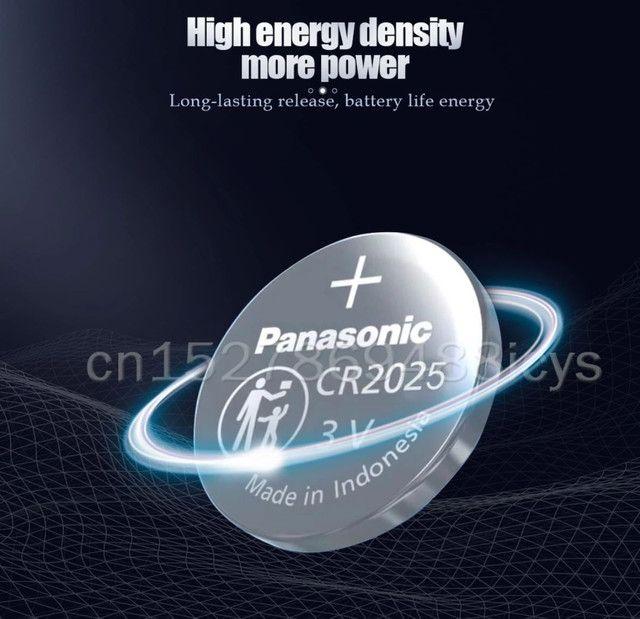 Bateria Panasonic CR2025 lítio 3v 150mAh original preços especiais atacado - Foto 5