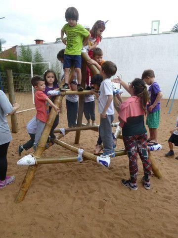 Pirâmide De Bambu Crossfit Yoga Playground