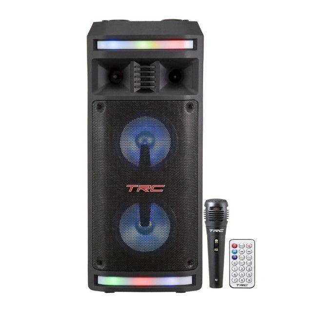 R$690,00 - Caixa De Som Amplificada TRC 335 Bluetooth Usb/Fm/Aux/Mic/TF 200W