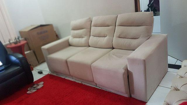 Sofa retrátil 4 lugares semi novo - Móveis - Tomba, Feira ...