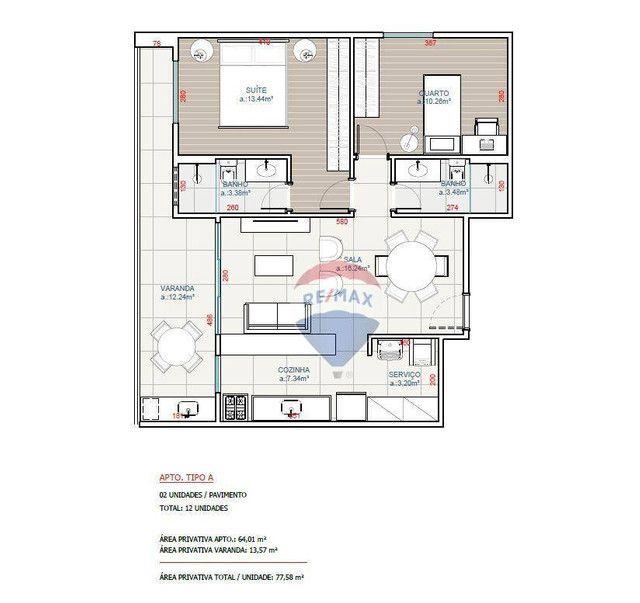 Apartamento com 2 quartos (1 suíte) à venda, 77 m² a partir de R$ 337.568 - Nova São Pedro - Foto 12