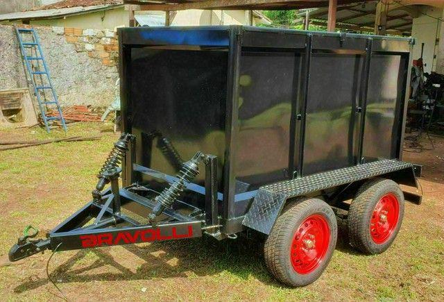 Conheça a BRAVOLLI ' Carretinha 2 eixos transporte com as nossas  - Foto 3