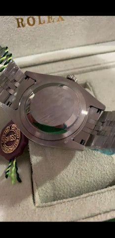 Relógio Rolex Oyster Perpetual Datejust Fundo Azul automático a prova d'água Completo - Foto 2