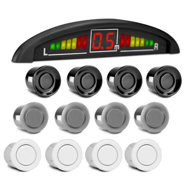 Sensor Ré  4 sensores, Sinal sonoro, Displey Led,  Super  Promoção - Instalado -  Me Liga - Foto 2