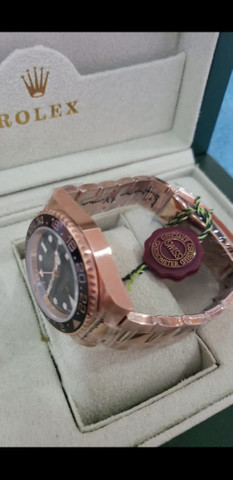 Relógio Rolex GMT Master II Rose Automático a prova d'água - Foto 2