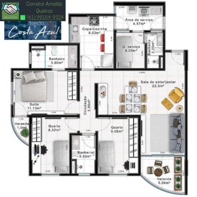 Apartamento no Residencial Costa Azul - Foto 2