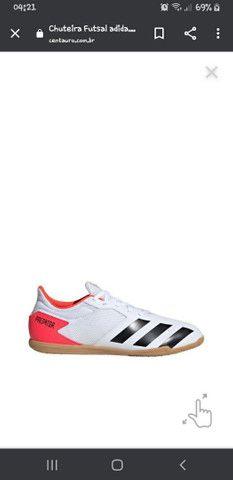 chuteira futsal Adidas predator - Foto 2