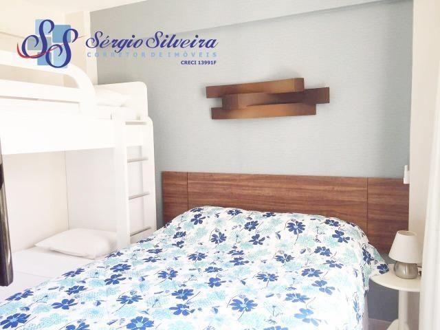 Apartamento à venda no Porto das Dunas com 3 quartos todo projetado Mediterranee - Foto 6