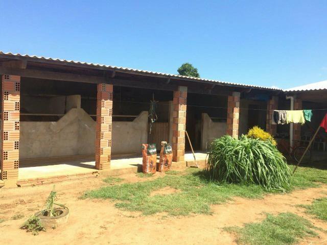 Casa rancho chacara 3 terrenos murados