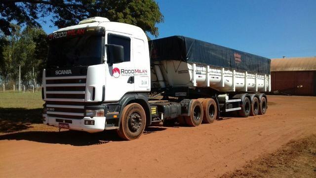 Scania R360 e caçamba basculante randon
