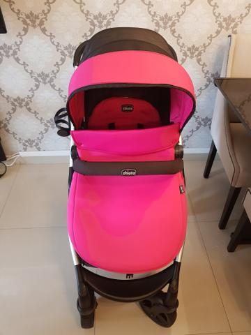 Kit 3 em 1 Chicco Urban com 2 kits color pack Pink e verde agua - Foto 2