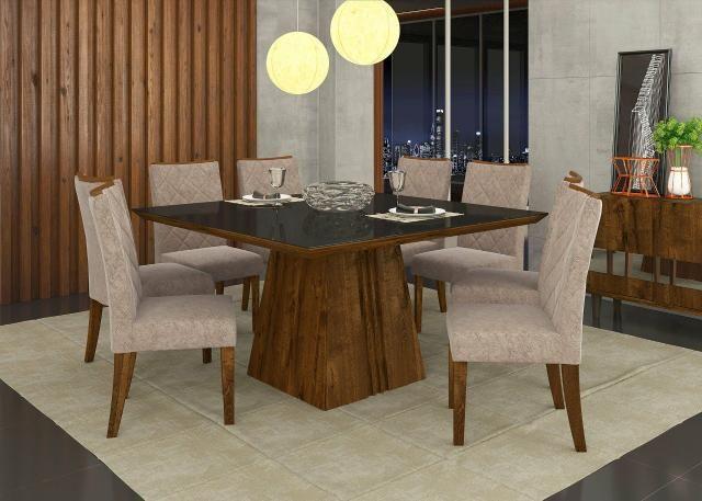 Mesa Itália Com 8 Cadeiras 100% MDF
